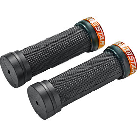 Reverse Youngstar Single Lock-On Puños Ø28mm 98mm Niños, black/orange